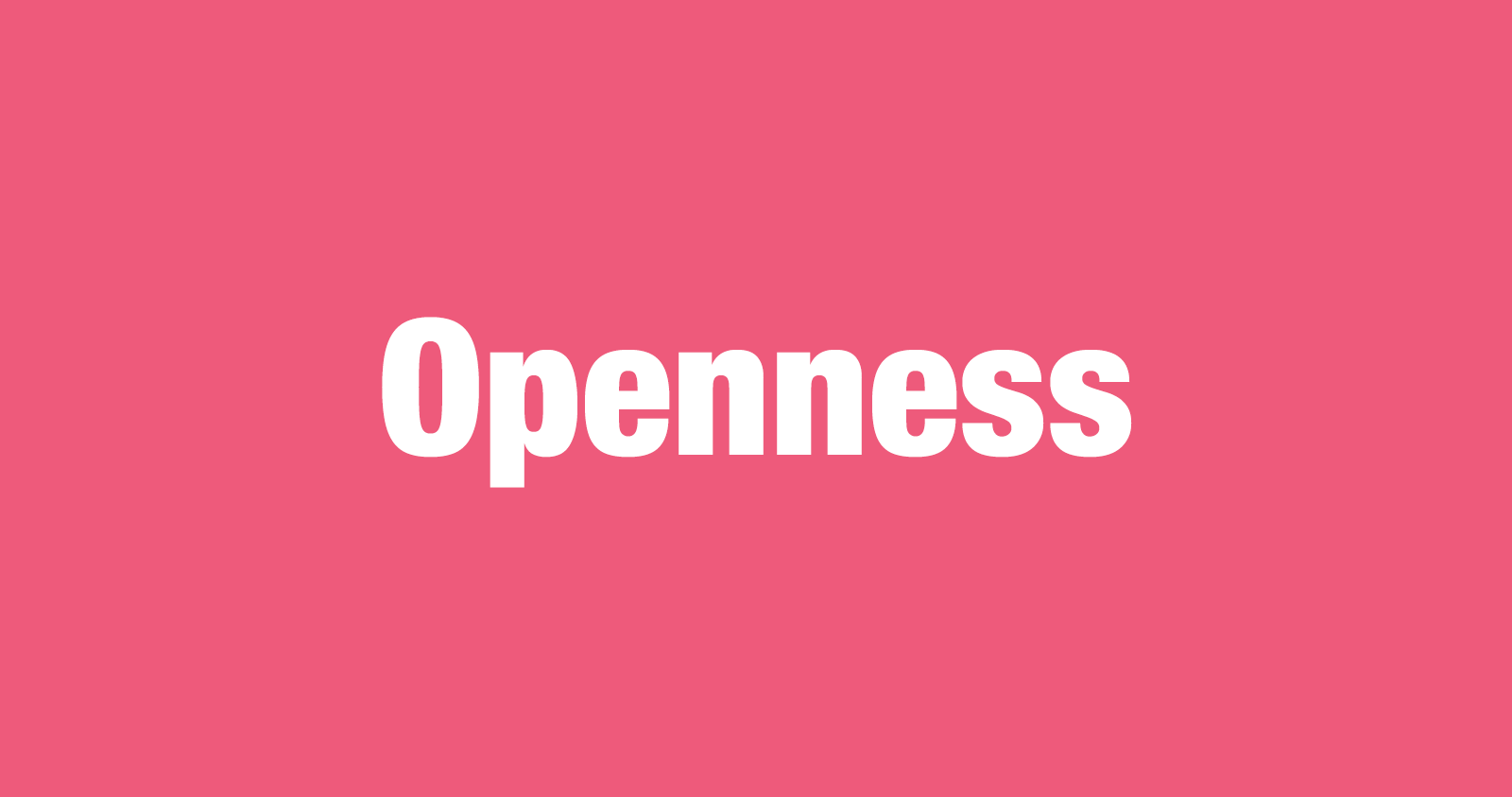 What is Openness?